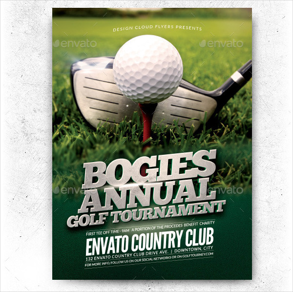 Benefit Golf Tournament Flyer