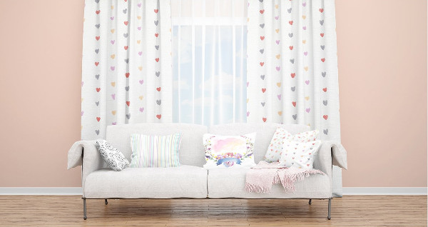 Window Curtains Mockup