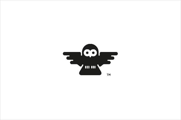 Unique Owl Design Logo Template