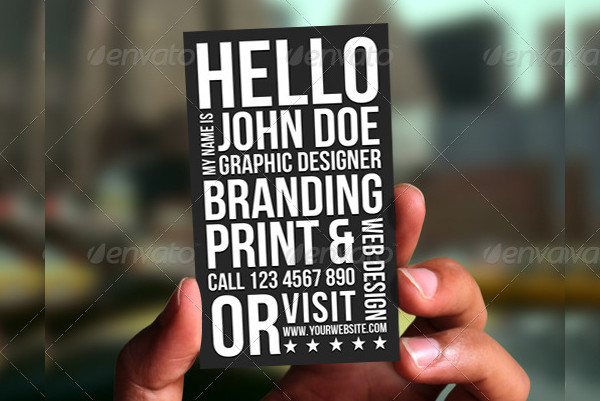 Unique Typography Business Cards