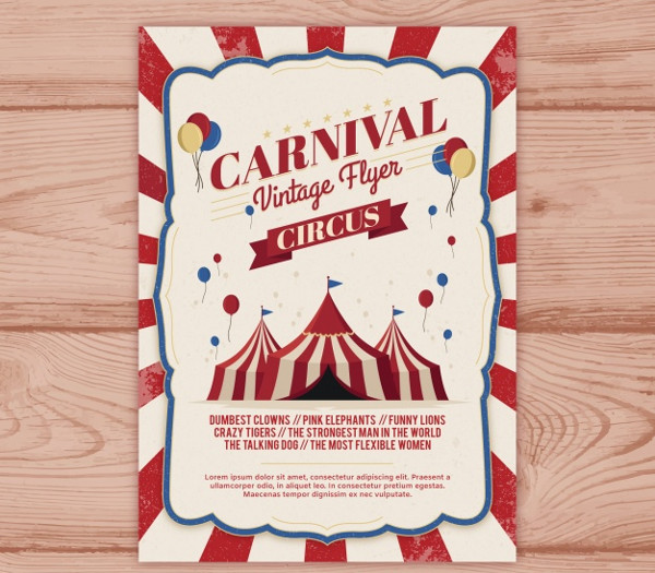 Vintage Carnival Party Poster Free Download