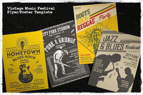 Vintage Music Festival Poster Design