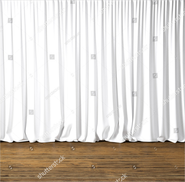 Blank Curtains Mockup Template