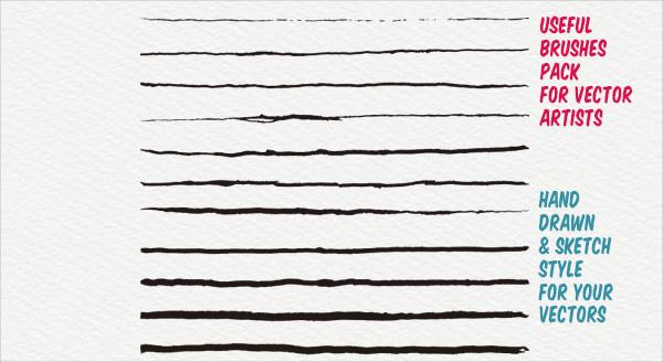 20 Unique Ink Art Brush Collection
