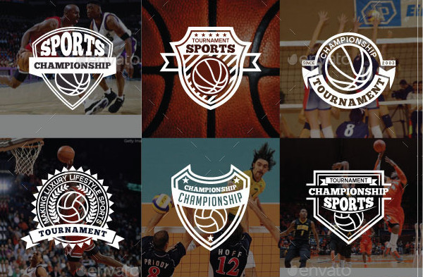 52 Sports Logo Badges Bundle