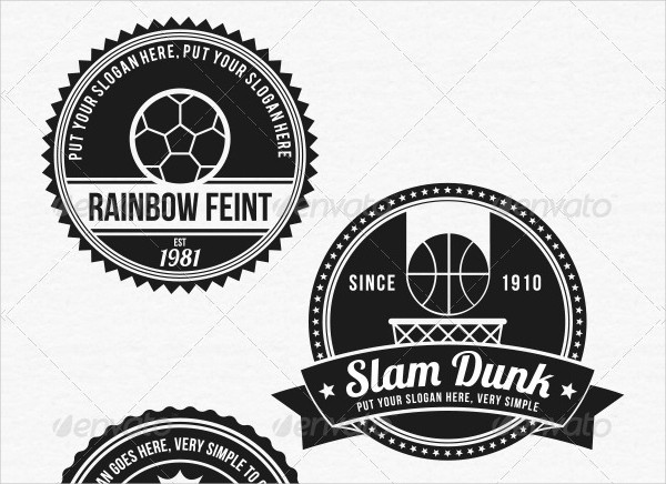 6 Premium Sport Badges