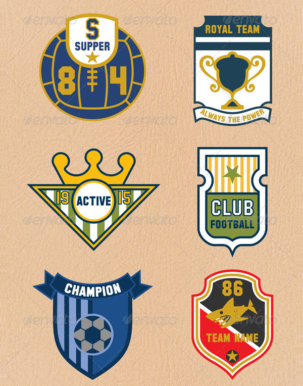 6 Professional Sports Badges