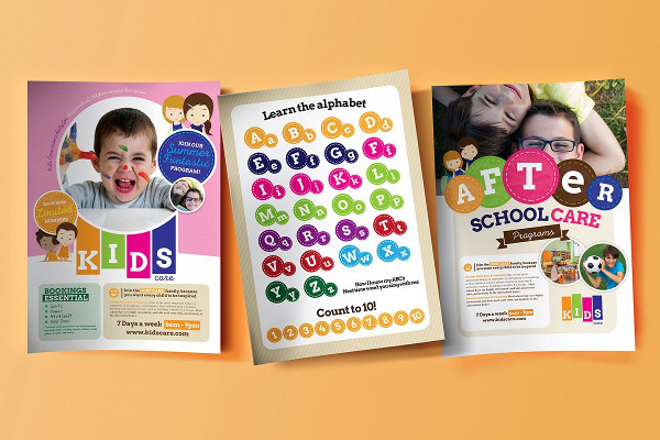 A4 After School Care Flyer or Poster Template
