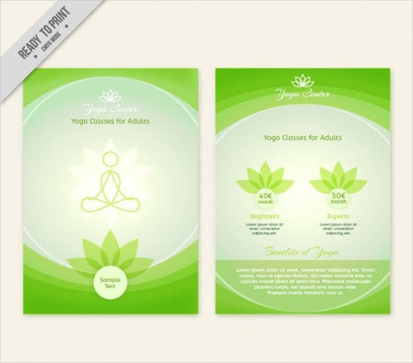 Abstract Yoga Center Brochure Free Download