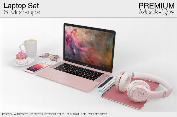 Apple Laptop Mock-Ups Set
