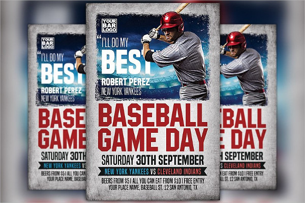 Baseball Game Day Flyer Design