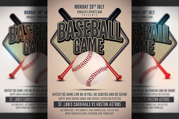 Baseball Game Flyer Templates