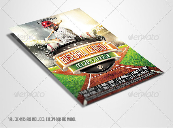 Baseball League Flyer PSD