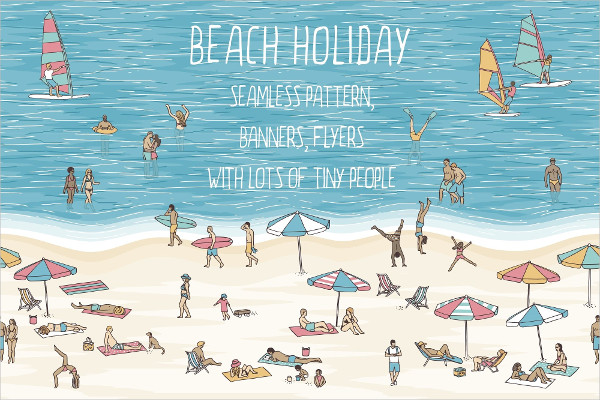 Beach Holiday Pattern & Banners