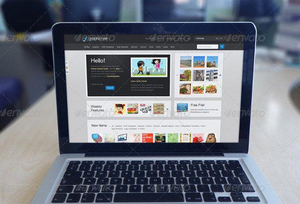 Best PSD Laptop Mockups