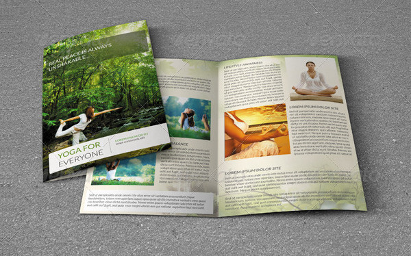 Bifold Brochure for Yoga Center