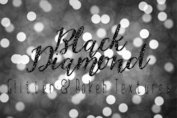 Black Diamond Glitter and Bokeh Background
