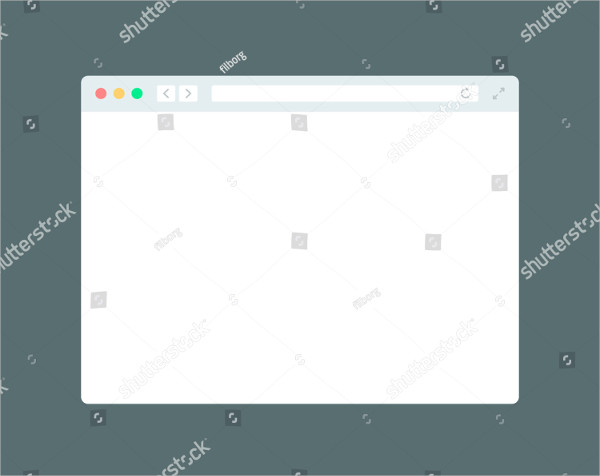 Browser Window Flat Mockup Template