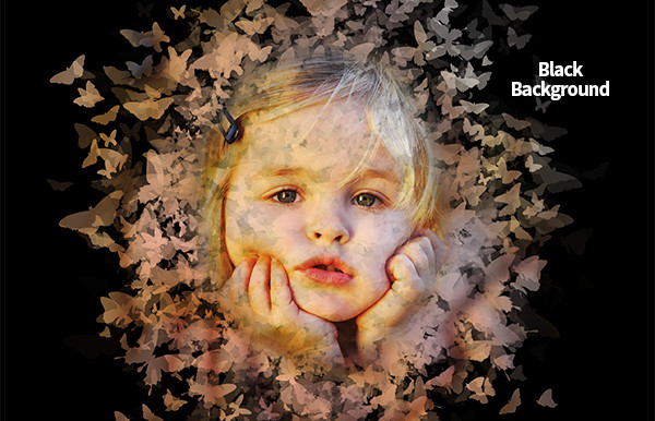 Butterfly Spread Baby Photoshop Actions