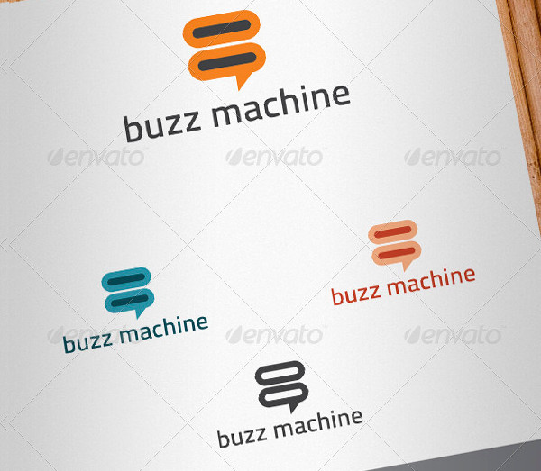 Buzz Machine Design Logo Template