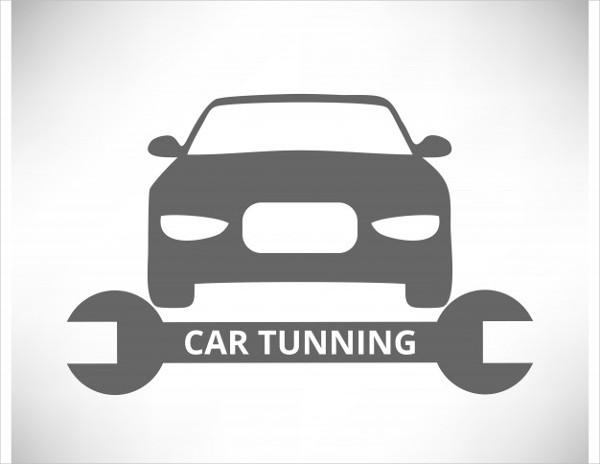 Car Tuning Logo Template Free