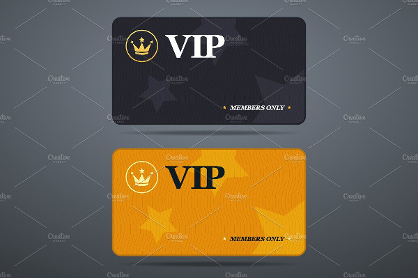 Casino VIP Membership Cards Template with Logo