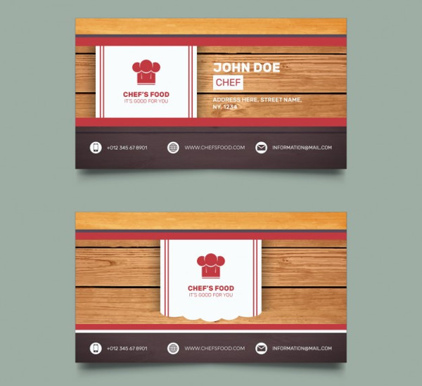 Chef Business Card Templates Free