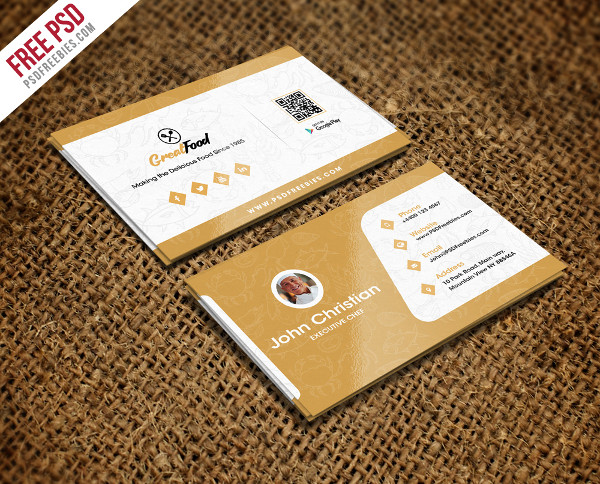 Chef Free PSD Business Card Template