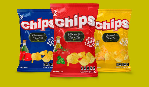 Chips Mock Up and Template Packaging