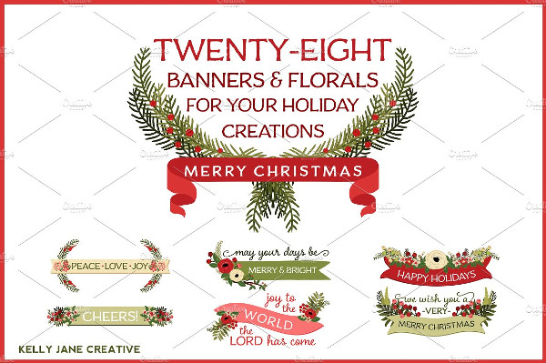 Christmas Holiday Banners & Florals