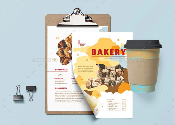 Classic Bakery Business Flyer Template