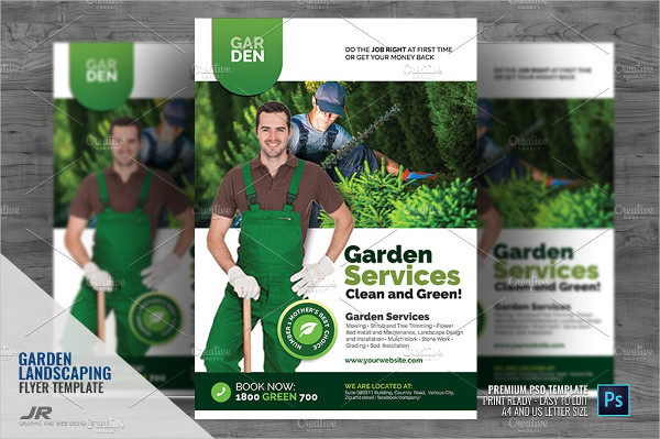 Clean Landscaping Promotional Flyer