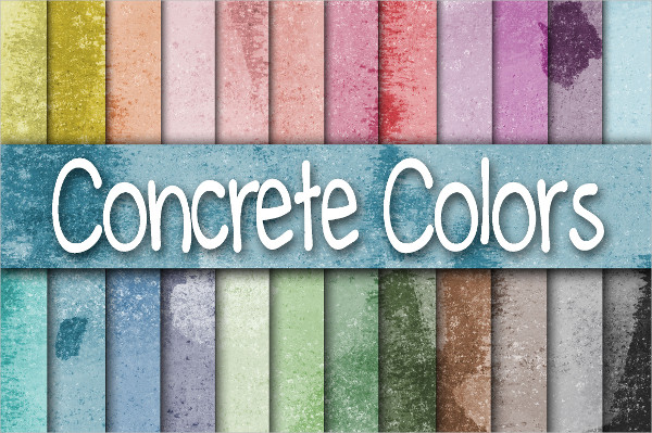 Colorful Concrete Wall Texture Digital Papers