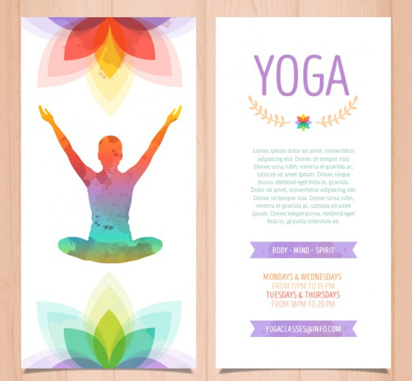 Colorful Yoga Brochure Free Download
