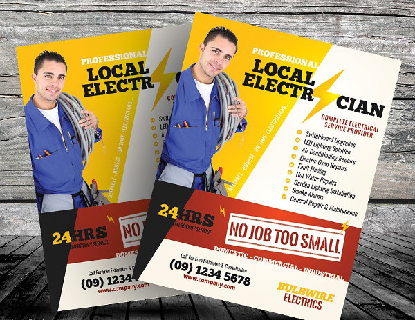 Local Electrician Flyer Templates