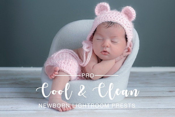 Cool & Clean Newborn Lightroom Photoshop Actions