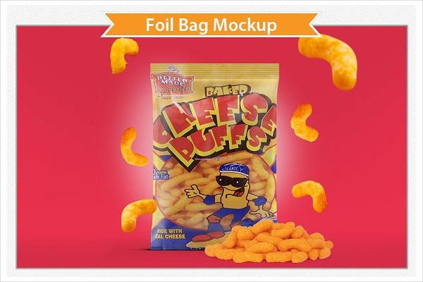 Creative Foil Bag Mockup Template