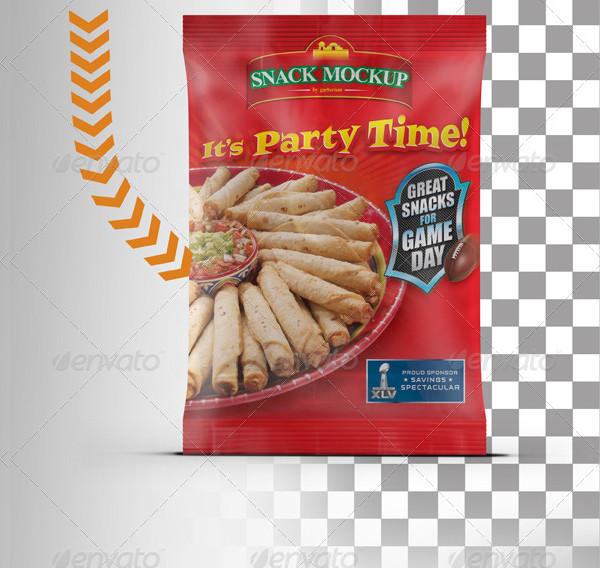 PSD Snack Bag Mockup