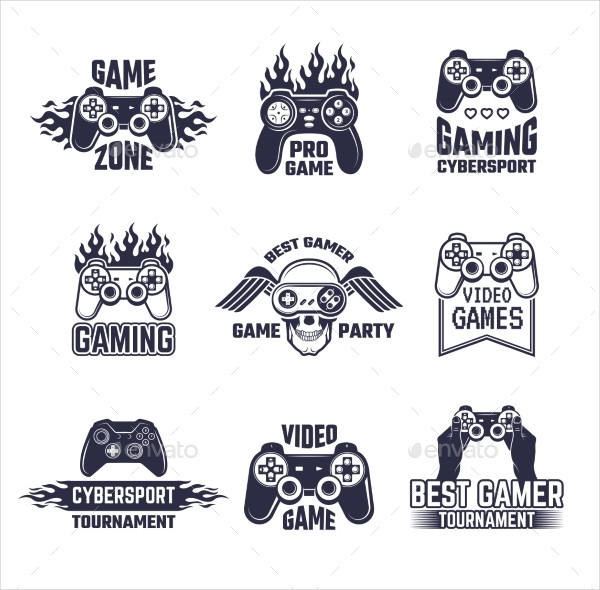 Cyber Sports Badges and Labels