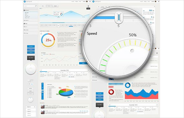 Dashboard User Interface Template