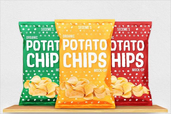 Custom Chips Bag Mockup Design