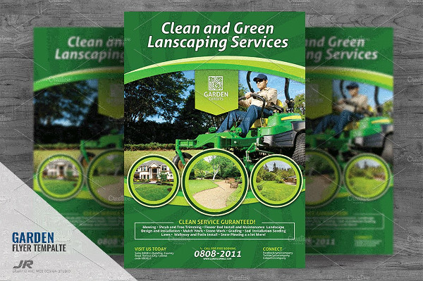 Clean & Green Landscaping Services Flyer