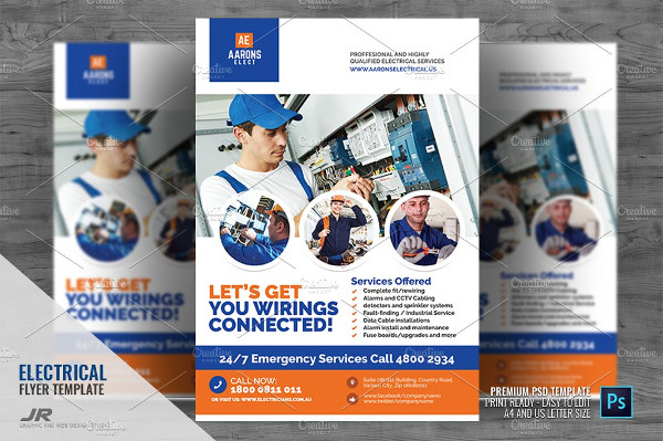 Electrical Contracting and Services Flyer