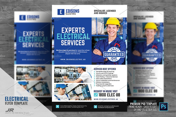 Electrical Experts Flyer Template