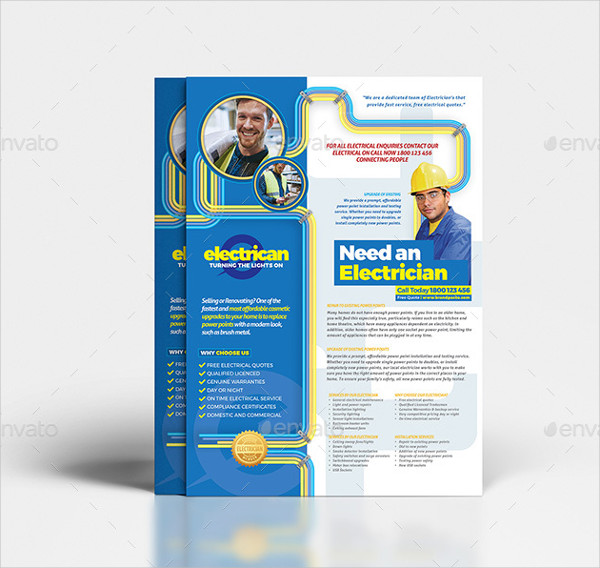 Electrician Print Templates Bundle