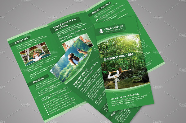 Elegant Yoga Tri-Fold Brochure Template