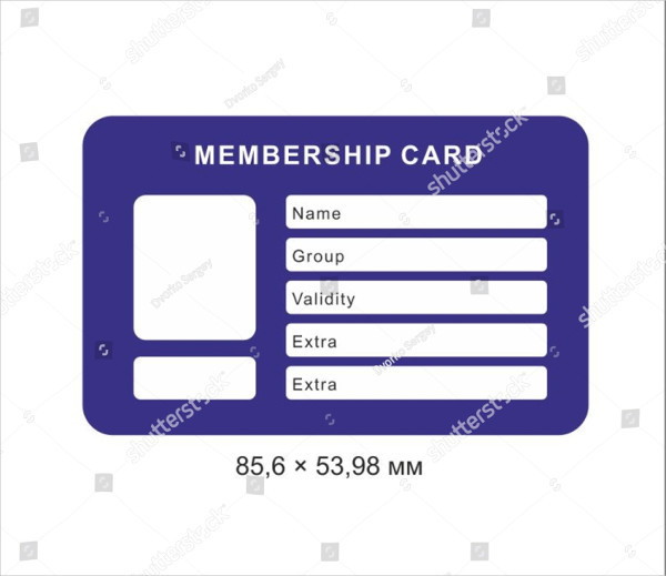 Creative Membership Card Template