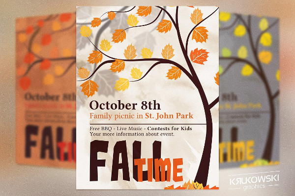 Fall Time Picnic Flyers