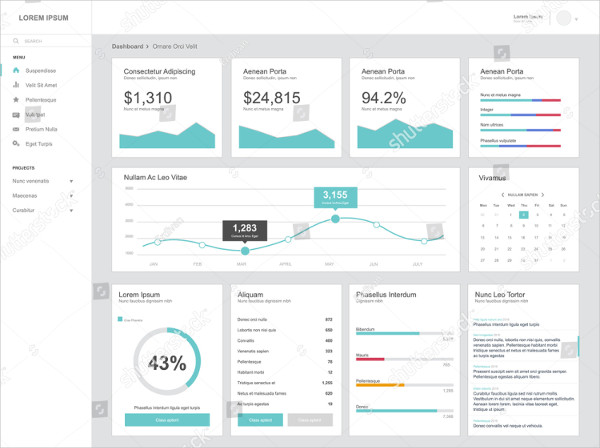 Flat Design Admin Dashboard Template