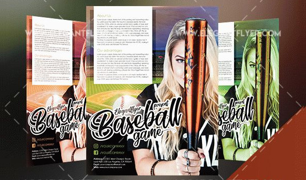 23 baseball flyer templates free premium download